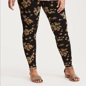Torrid Floral Print Full Length Leggings